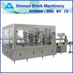 Hot Rotary Juice Glass Bottle Filling Machine , Gravity Liquid Filling System