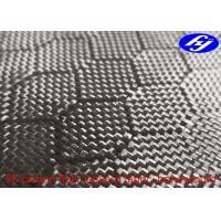 China Honeycomb / Hexagon Pattern 3K Carbon Black Fiber Jacquard Fabric on sale