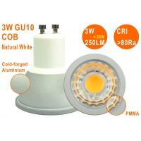 Epistar COB 3W 250LM Natural White High CRI Non-dimmable GU10 LED Spotlight