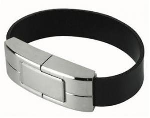 China Colored Micro Mini  Wristband  Leather Bracelet Usb Flash Drive  Pen Drive 245*20*13mm on sale