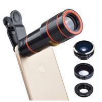 Universal 6 in 1 tripod 12X Zoom Telescope Fisheye Wide Angel Macro Lens For iPhone SE 6 7S Plus Samsung S8 S7 Redmi
