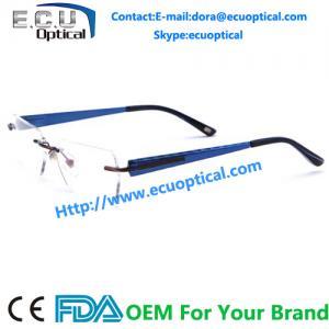 China china handmade acetate optical frames alloy eyeglasses rimless eyewear on sale