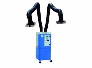 China Self Cleaning Mobile Fume Extractor With 2 Pcs 3m Arms PLC Smart Control on sale