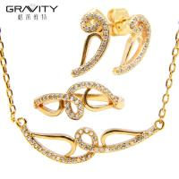 China Artificial 22k Gold Plated Jewellery Dubai Wholesale Bridal Jewelry Set Price on sale