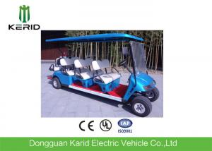 China 48V/4KW DC Motor Electric 8 Seater Golf Buggy Battery Operated Blue Color on sale