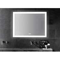 China LED Illuminated Touch Screen Bathroom Mirror With Aluminum Frame Sensor Demister on sale