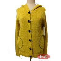 China Customized Lady Casual Duffle Coat Hooded Sweater Knitwears for Spring or Autumn on sale