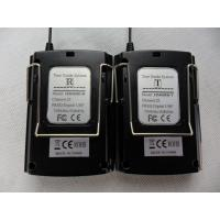 Black 008C Portable Tour Guide System Transmitter And Receiver For Play Audio Files