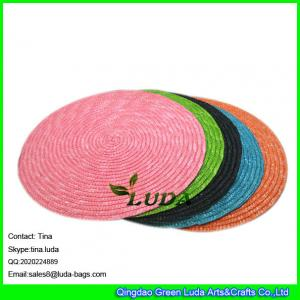 49bbd08c30 ... Quality LUDA oval table mat wheat straw making colored wholesale  placemats oversized for sale
