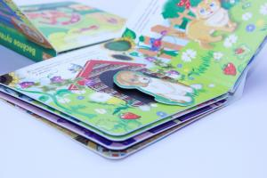 China Walt Disney Custom Board Book Printing Service / Puzzle Story Book With Diecut Spacers on sale