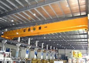 China Double Girder Bridge Crane With Electric Hoist Trolley , LH Workstation Bridge Crane on sale