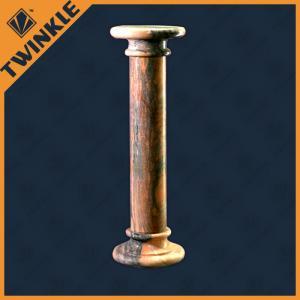 China Custom Natural Stone Sculpture Column / Marble Pedestal Column , Polished on sale