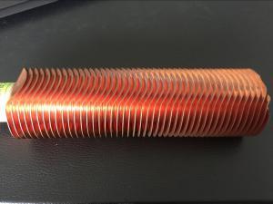 China CuNi 90/10 tipo tubo de la forma de aleta del cambiador de calor OD25.4 X 1.5WT L tubería de cobre aletada on sale