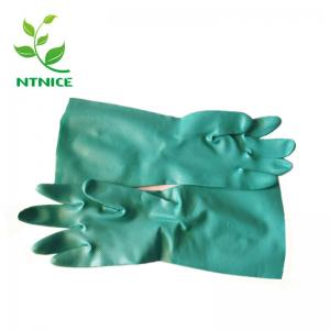 China Heavy duty Soft Nitrile butadiene Rubber Industrial Protective Gloves Chemicals Acids Oil Detergents on sale