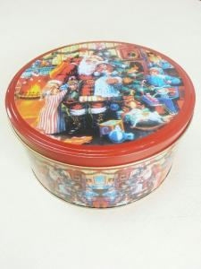 China Christmas Candy Tin Storage Containers Tinplate With Cover / Lid on sale