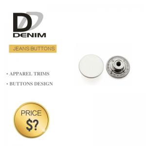 China Shiny Silver Denim Metal Buttons Original Designer Button Accessories on sale