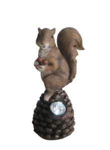 China Decorative Squirrel Solar Powered Animal Garden Lights With Spotlight on sale