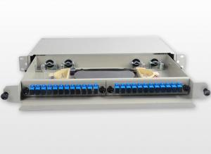 China SC / UPC Metal Fiber Rack Mount Patch Panel 24 Port 24 Core Fiber Distribution Unit on sale