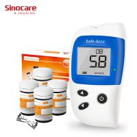 Light warning No coding FAD-GDH Enzyme Blood Glucose Meter  Home Glucose Monitoring System CV<6% Anti Interference Strip