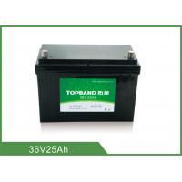China Long Cycle Battery 36V 25AH Rechargeable Lithium Ion Battery on sale