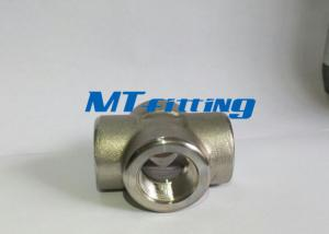 China ASTM A182 F317L Stainless Steel High Pressure Fitting Cross With Threaded End on sale