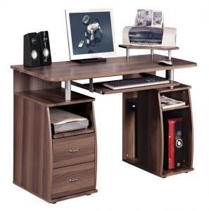 Quality Brown Computer Wooden Office Desks , 15mm Melamine Board Antique  Furniture DX For Sale ...