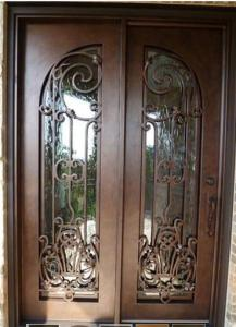China Wrought Iron Entry Door Designs For House home on sale