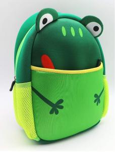 China High quality material waterproof soft colth neoprene RB kids backpack children school bag,frog lunch tote bag on sale