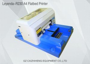 China Auto Desktop Small Format Uv Flatbed Printer , Multi - Purpose Flat Printing Machine on sale