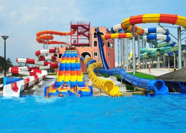 Customized Spiral Swimming Pool Water Slides Outdoor 12 ...