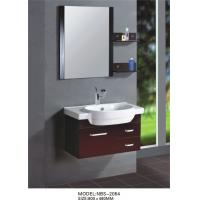 Red grape wine square type Solid Wood Bathroom Cabinet custom made