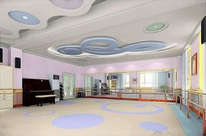 China YUEPO- foaming base commercial pvc flooring with carton picture in school/ kindergarden on sale