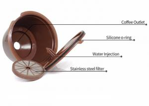 Quality Food Grade Stainless Steel Coffee Filter , K Cup Refillable Filter Easy Clean for sale