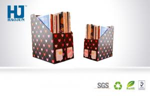 China Lovely Print Hearts cardboard display boxes for Files / Magazines or Books on sale