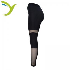 China Most Sexy Womens Black Tight Capri Leggings With Light Mesh Wholes pants on sale