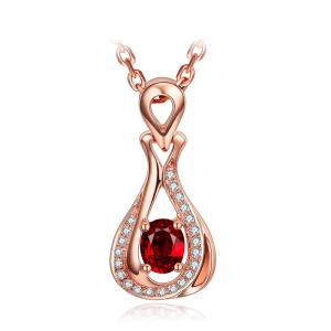 China Natural Diamond Gemstone Jewelry Big Ruby Pendant Necklace Cluster Diamond on sale