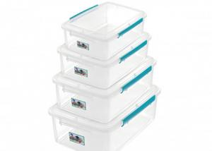 China Clear Plastic Food Storage Box with Lid and Lock Capacity 0.9L to 12L Withstand Temperatures From -40°C to +80°C on sale