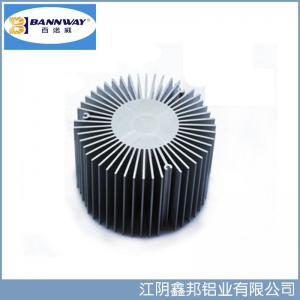 China Sunflower Precistion Shapesof  Heat Sink Aluminum Extrusion Profiles on sale