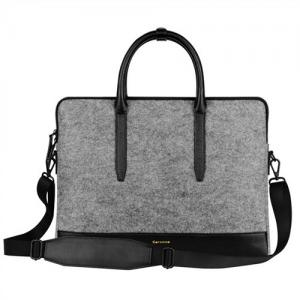 China Environmental Large Messenger Business Laptop Bags Wool Felt with Leather Handle / Bottom on sale