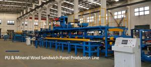 China 5M / Min Polyurethane Sandwich Panel Production Line With Max Width 1250mm on sale