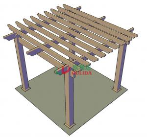 Quality DIY wood plastic composite pergola Construction for garden / 4mx4mx3m / OLDA for sale
