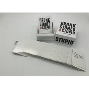 China 250 Pcs Cool Card Games Drunk Stoned Or Stupid Cards OEM / ODM Acceptable on sale
