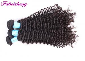 China Unprocessed Curly Brazilian Hair Extensions Virgin Human Hair Deep Wave on sale