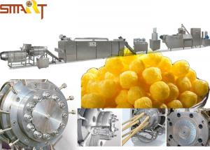 China Double Screw Snack Food Extruder Machine Stick Type Puffed Corn Snack Making on sale