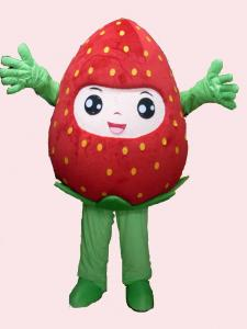 Quality handmade adults full-body strawberry mascot cartoon cosplay fruit costumes for party for sale