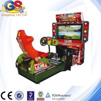 2014 4D simulator arcade racing car game machine, racing car steering wheel