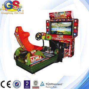 China 2014 4D simulator arcade racing car game machine, racing car steering wheel on sale