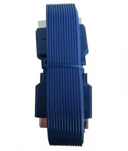 China 50FT Blue Flat Scart Cable 21 PIN Enabled Hot Plug on sale