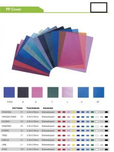 China PP  BINDING COVER   PP  COVER on sale