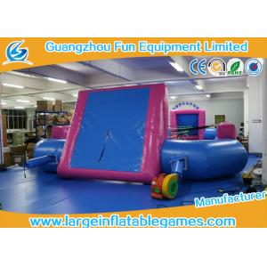 China Blue room Pink PVC Tarpaulin Inflatable Football Pitch / Inflatable Soccer Playground on sale